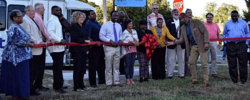 On Wednesday, October 11, 2017, the Transportation Administration of Cleveland County and community collaborators held a ribbon cutting in west Shelby to kick off the first trip on the new route.
